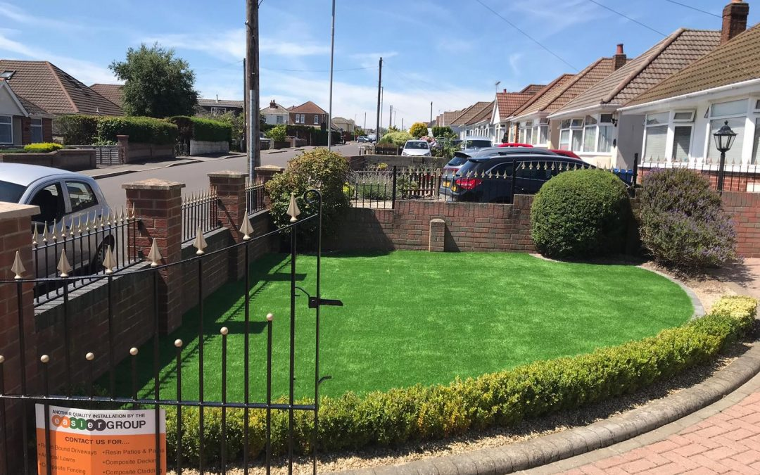 Front and Back Garden Transformed with Artificial Grass