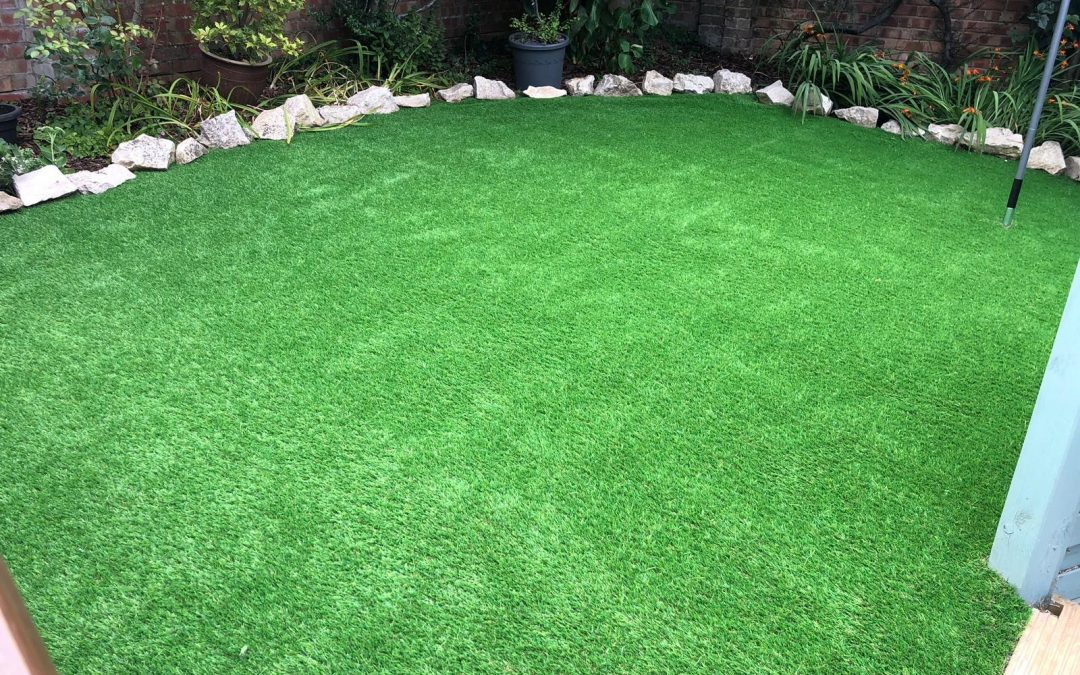 New Artificial Lawn Installation in Verwood