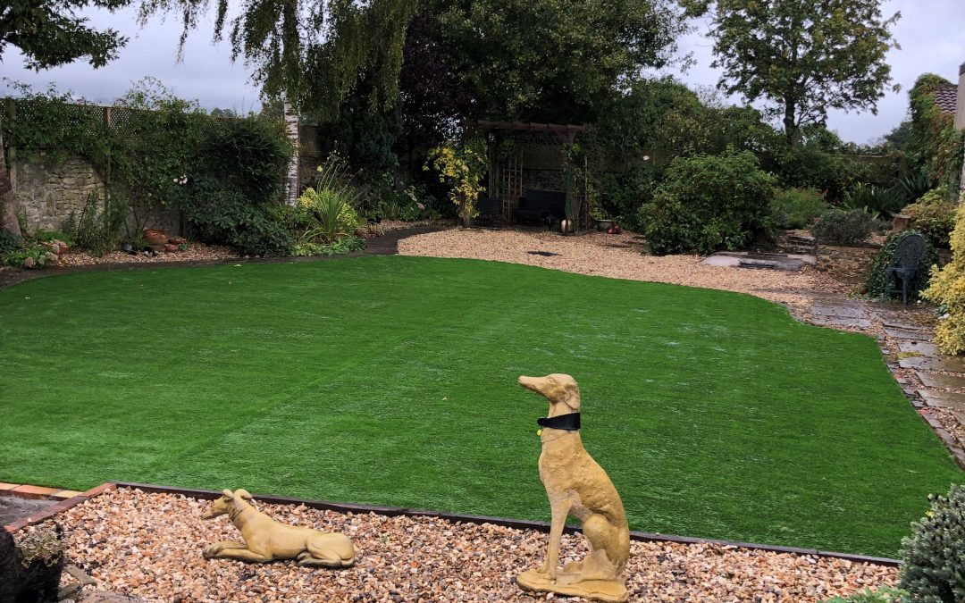 Large Artificial Lawn Installed in Shepton Mallet